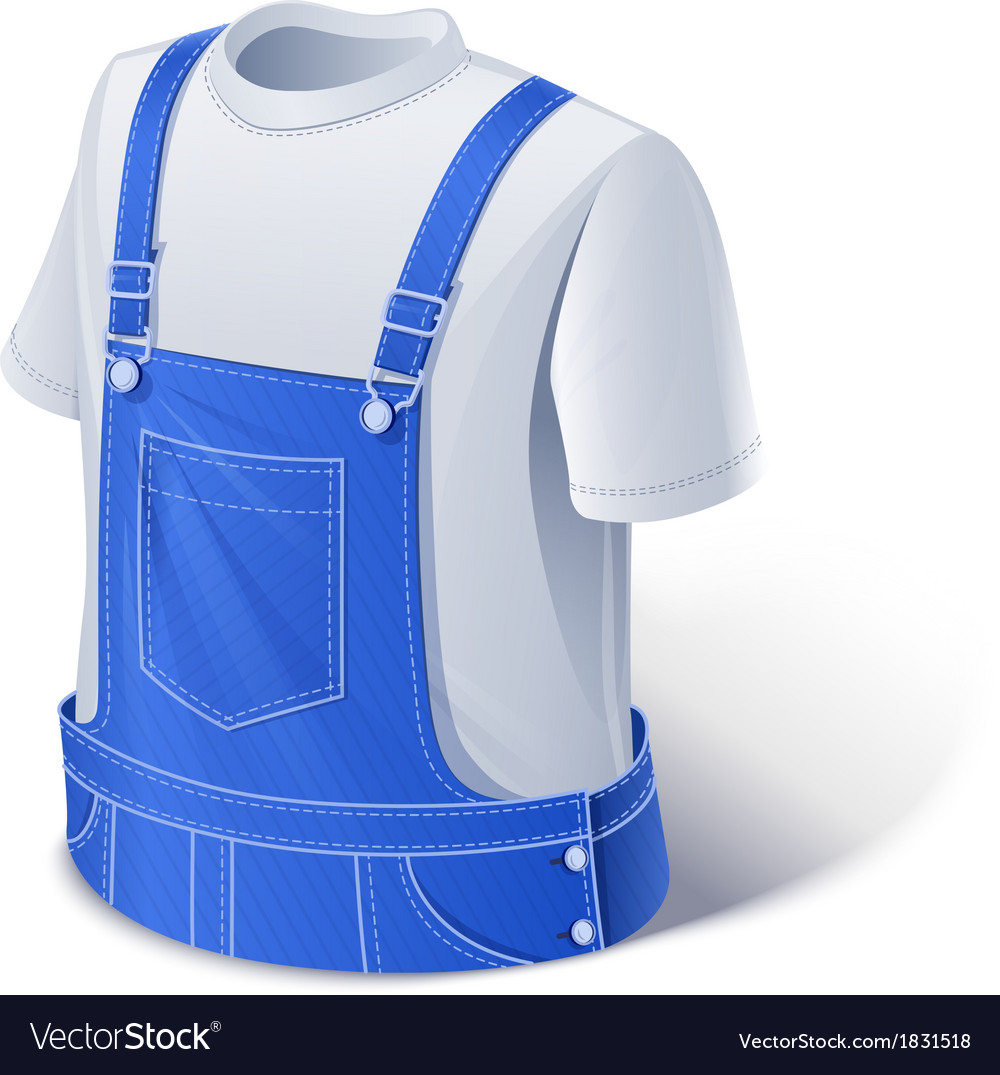 Shirt and overalls workers vector | Price: 3 Credit (USD $3)