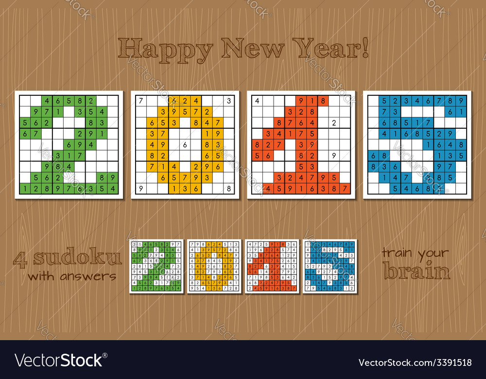 Sudoku set 2015 vector | Price: 1 Credit (USD $1)