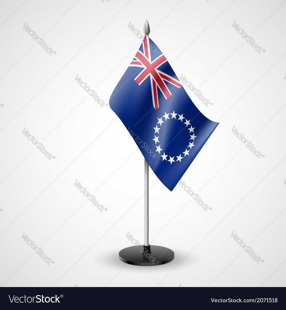 Table flag of cook islands vector | Price: 1 Credit (USD $1)