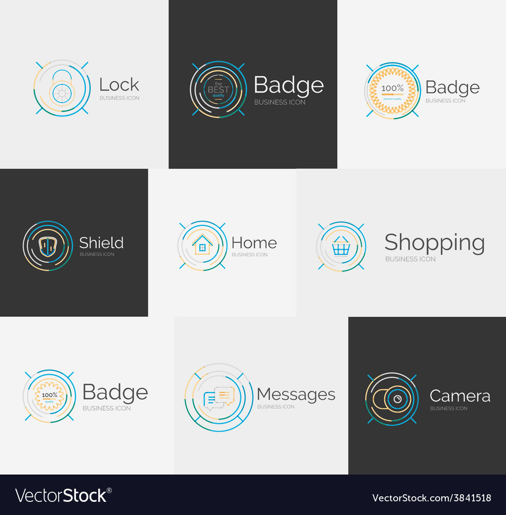 Thin line neat design logo collection vector | Price: 1 Credit (USD $1)
