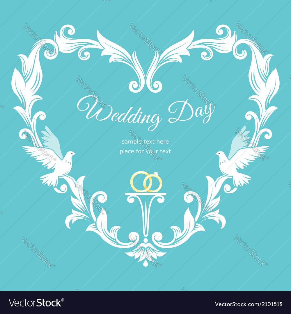 Wedding heart frame vector | Price: 1 Credit (USD $1)