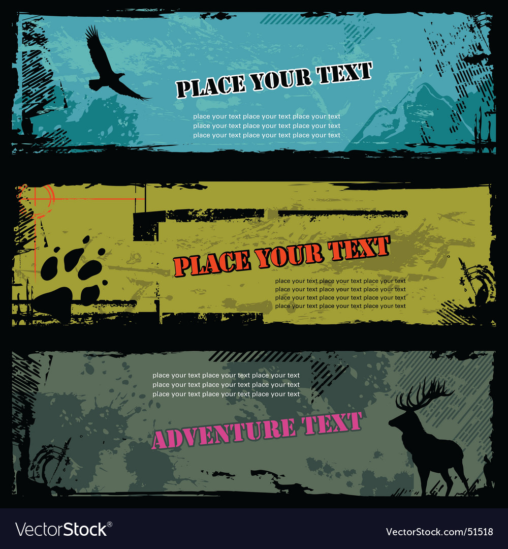 Wildlife banners vector | Price: 1 Credit (USD $1)
