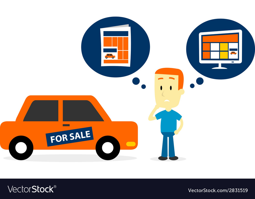 Advertise an old car for sale vector | Price: 1 Credit (USD $1)