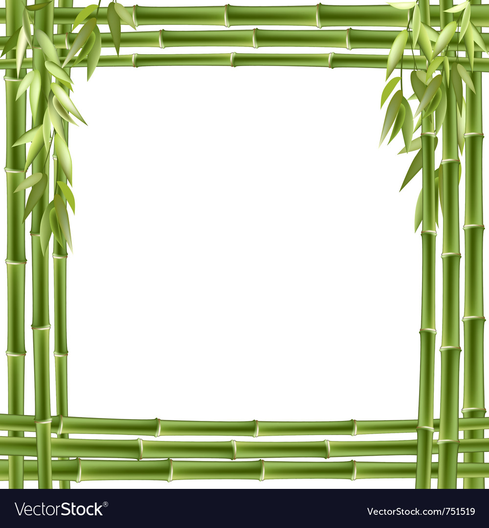 Bamboo frame background vector | Price: 1 Credit (USD $1)
