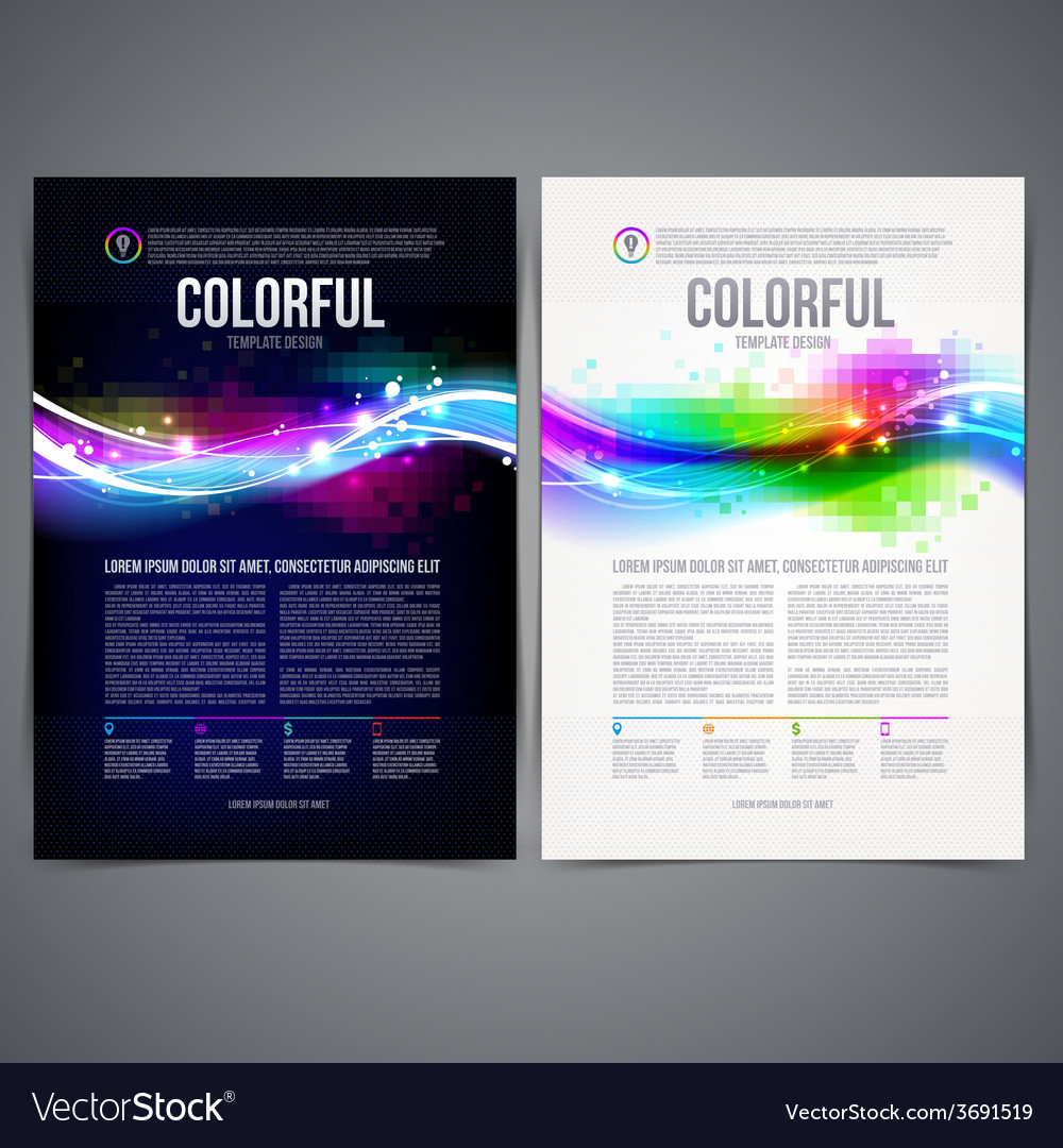 Business template page design with colorful shape vector | Price: 1 Credit (USD $1)