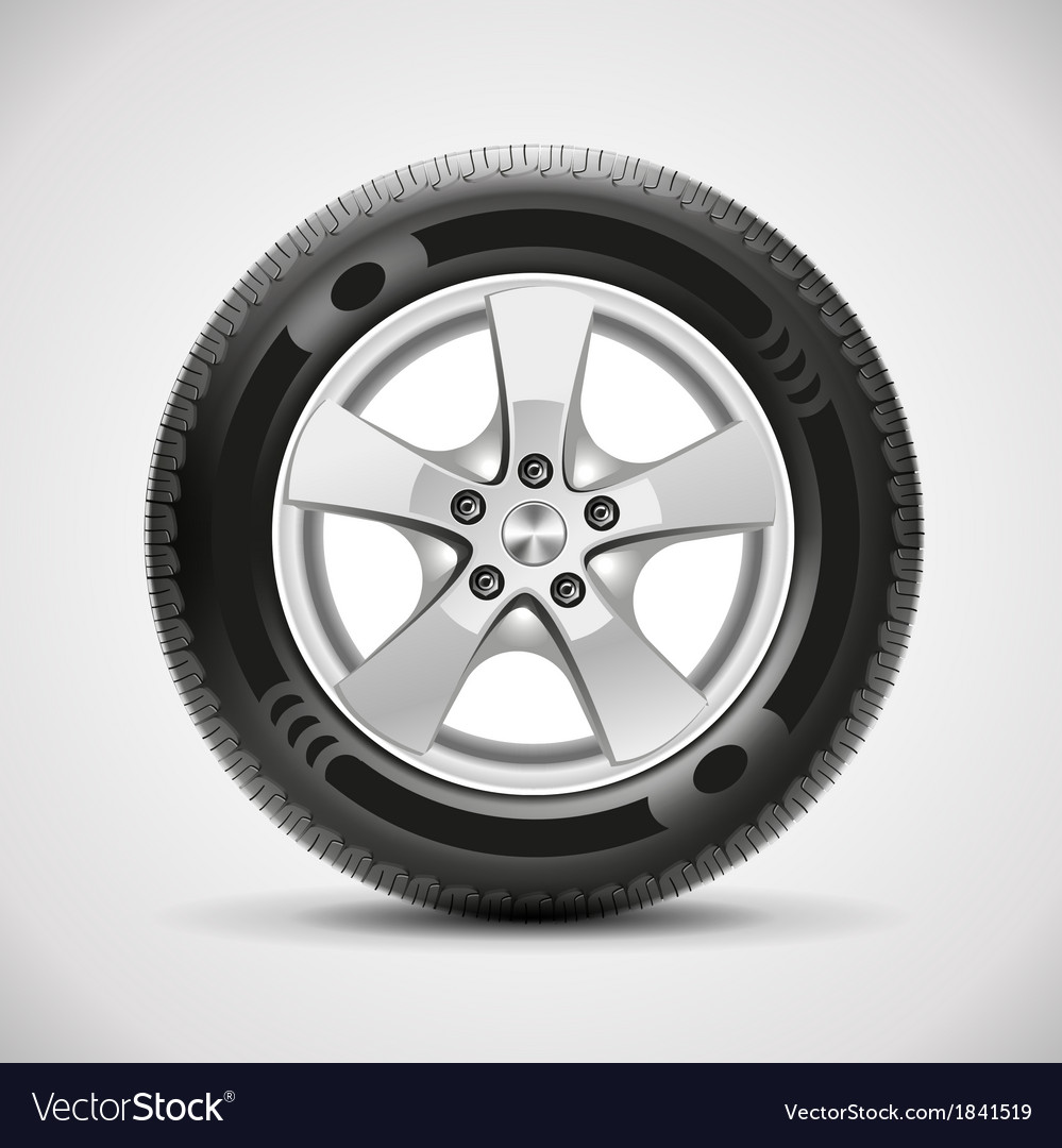 Car tire vector | Price: 1 Credit (USD $1)