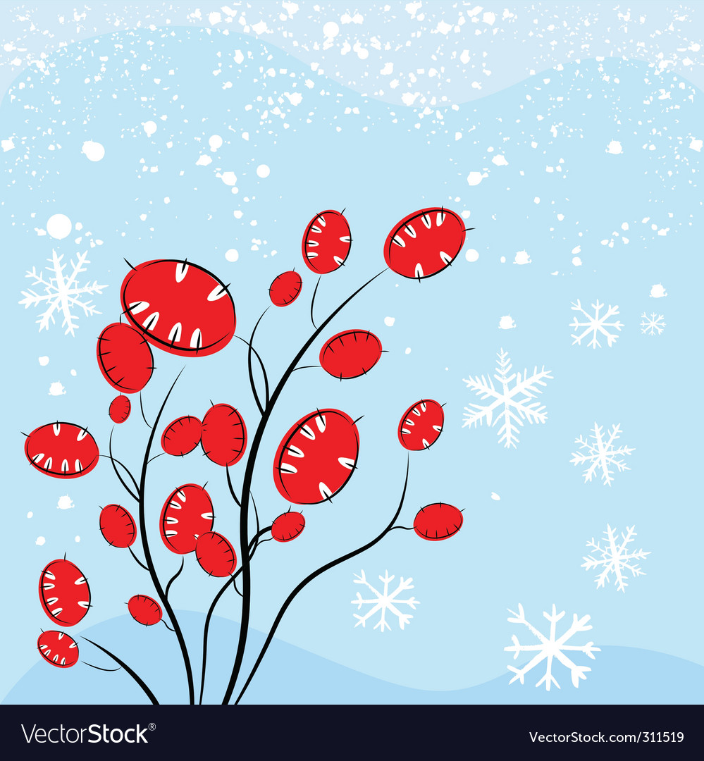 Christmas plant vector | Price: 1 Credit (USD $1)
