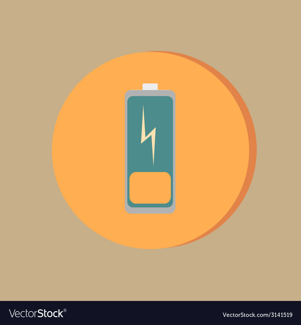 Discharged battery symbol a discharged battery vector | Price: 1 Credit (USD $1)