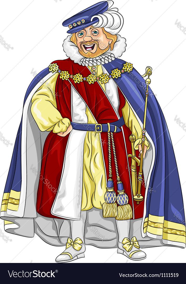 Funny fairytale cartoon king vector | Price: 3 Credit (USD $3)