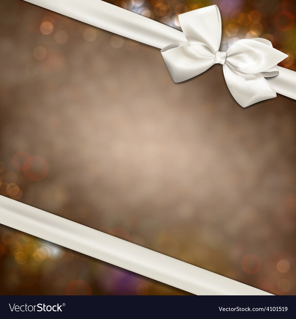 Gift card with white bow vector | Price: 1 Credit (USD $1)