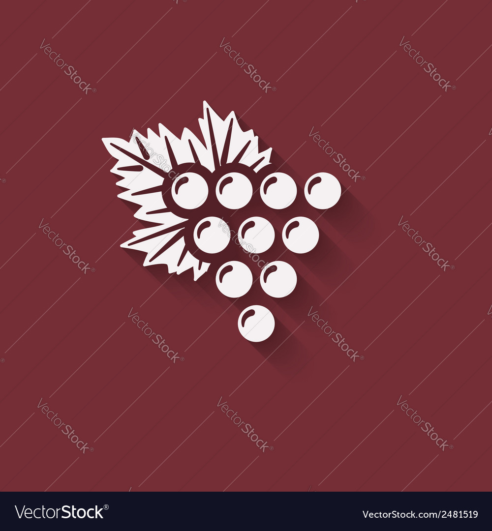 Grapes wine design element vector | Price: 1 Credit (USD $1)