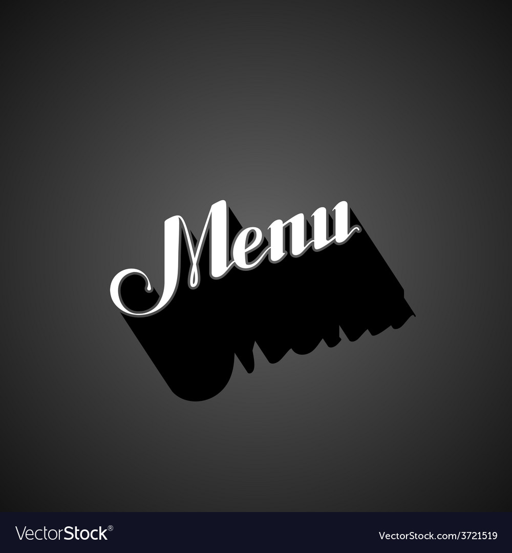 Handwritten menu retro label vector | Price: 1 Credit (USD $1)