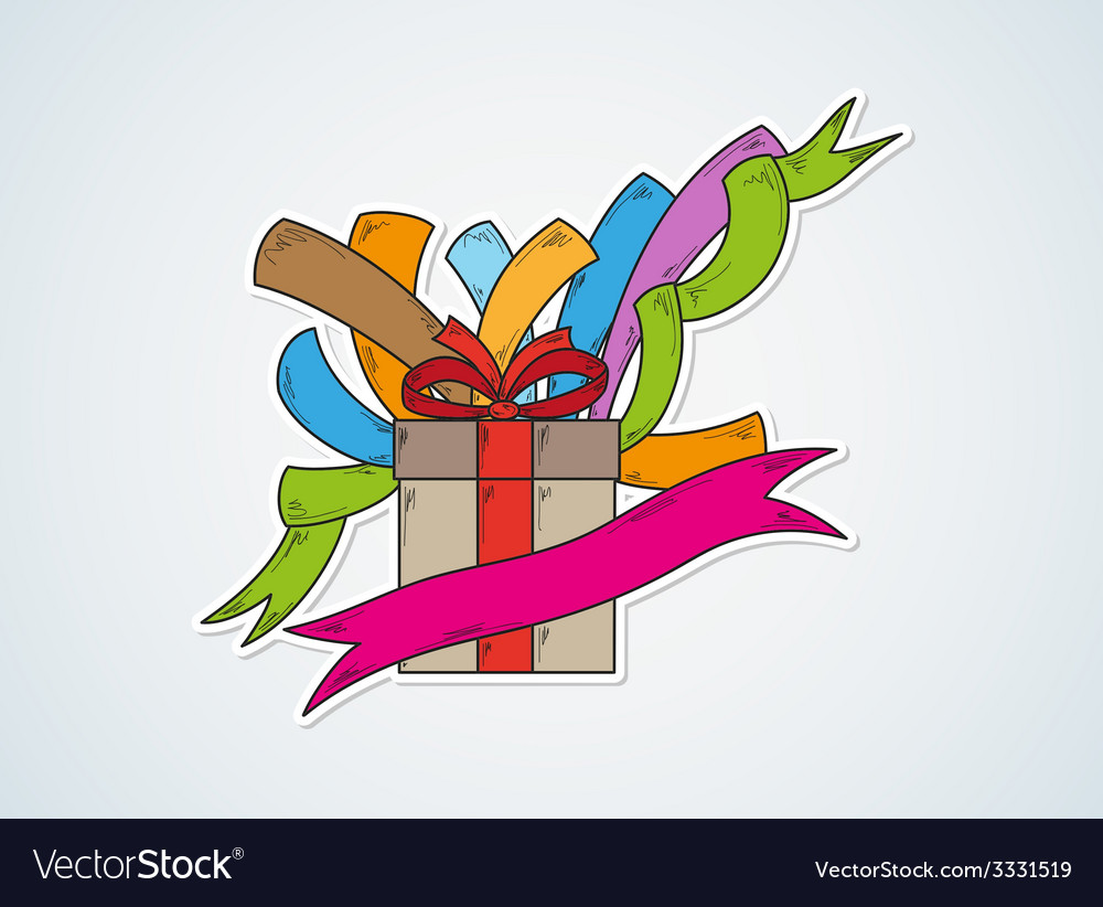 Happy birthday and gift vector | Price: 1 Credit (USD $1)