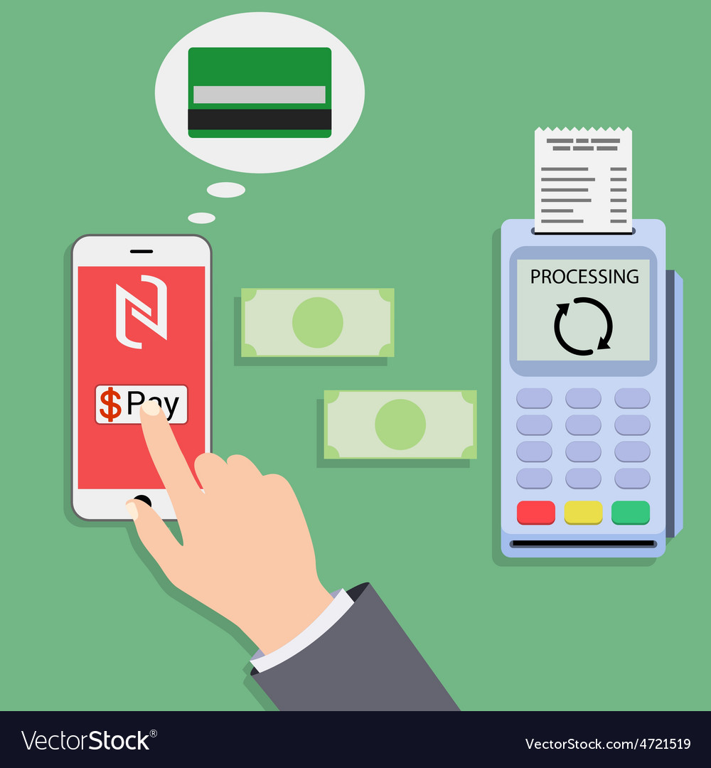 Mobile payments and near field communication vector   Price: 1 Credit (USD $1)