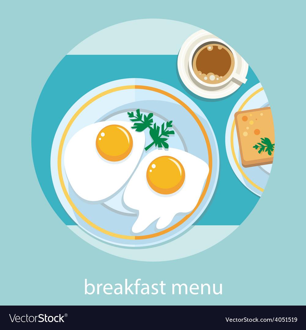 Morning breakfast menu vector | Price: 1 Credit (USD $1)