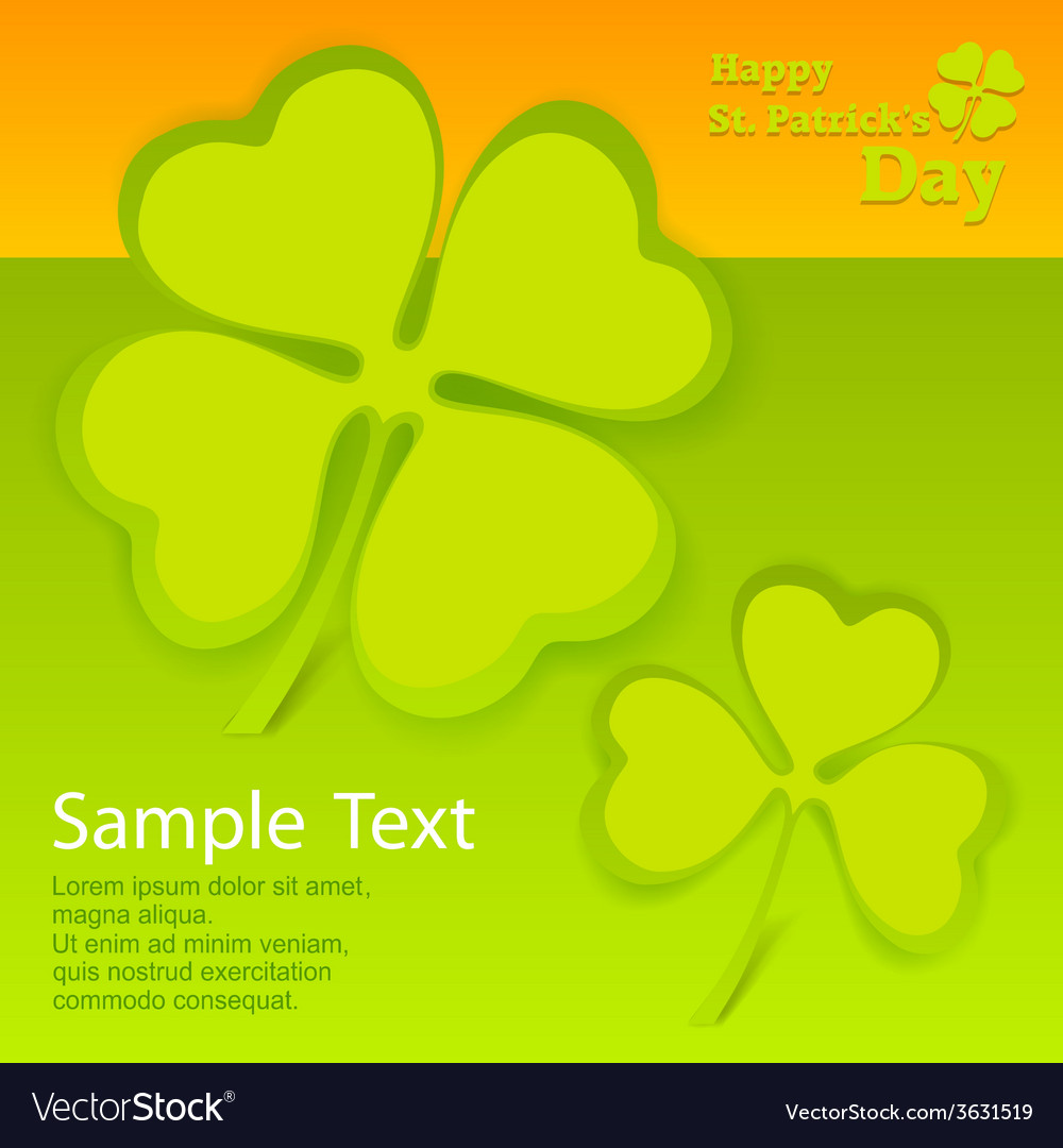 Patricks day card vector | Price: 1 Credit (USD $1)