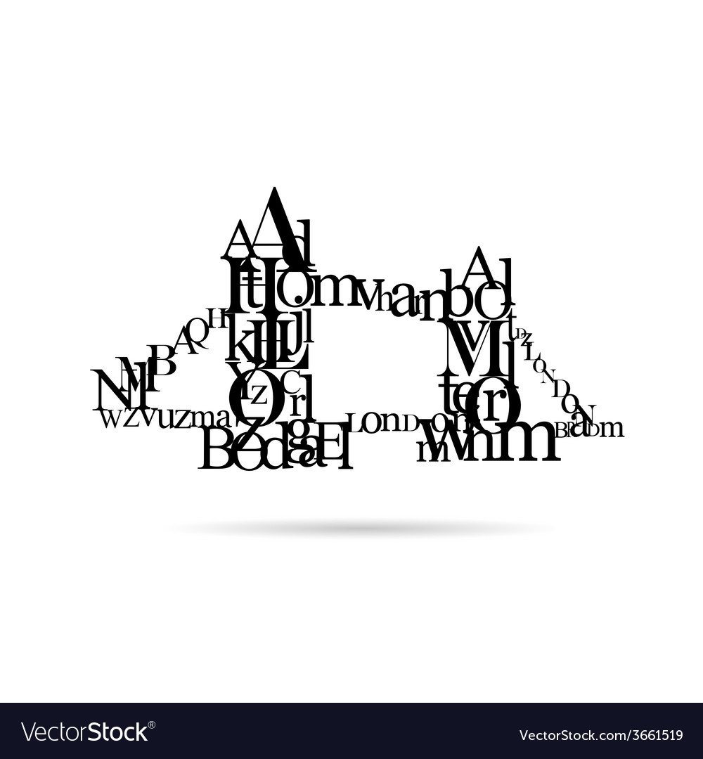 Typography london bridge silhouette vector | Price: 1 Credit (USD $1)