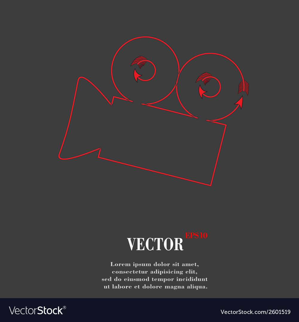 Video-camera flat modern web button and space for vector | Price: 1 Credit (USD $1)