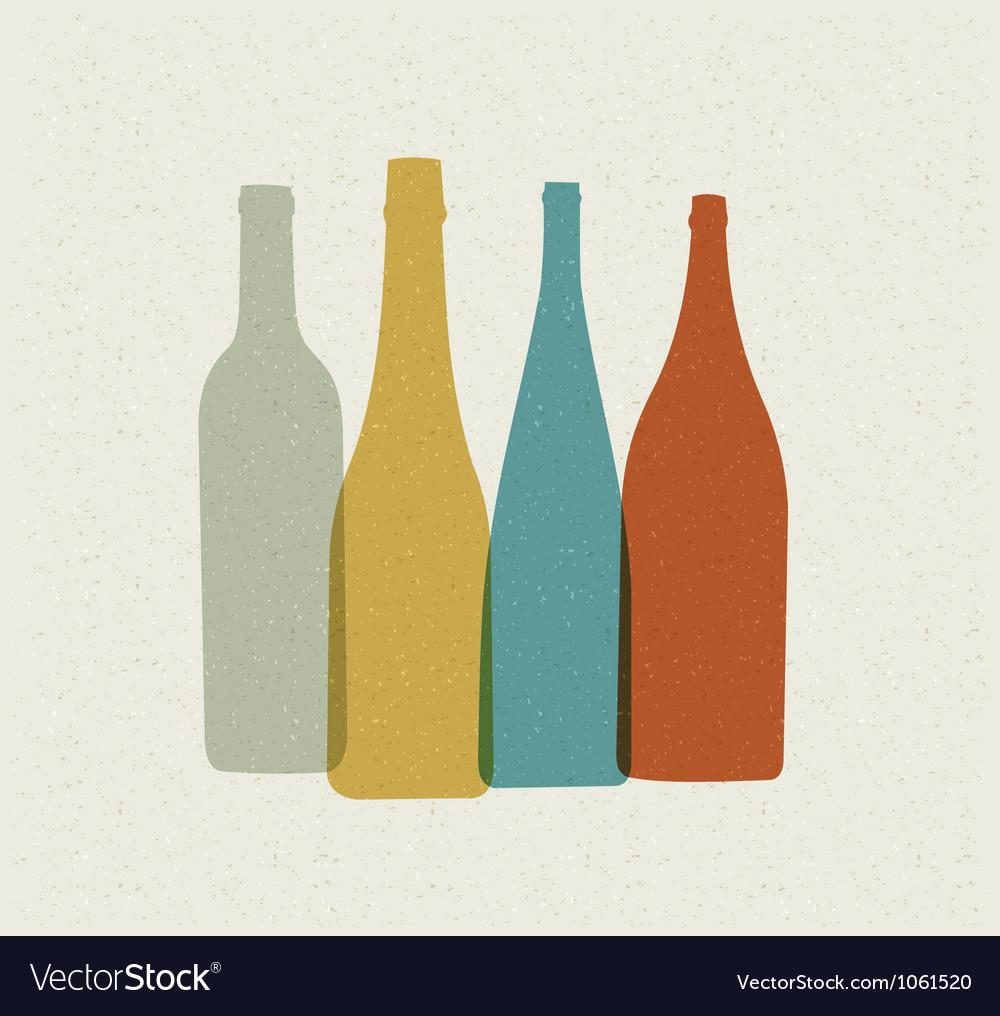 Bottle background retro poster vector | Price: 1 Credit (USD $1)