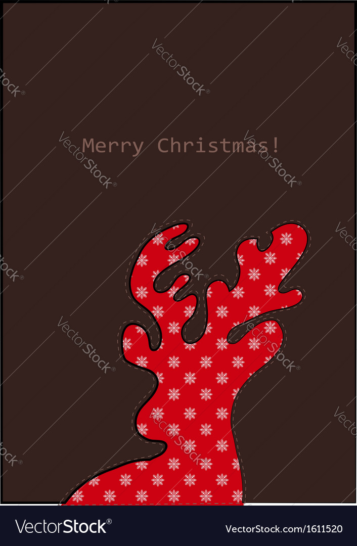 Christmas deer with pattern vector | Price: 1 Credit (USD $1)