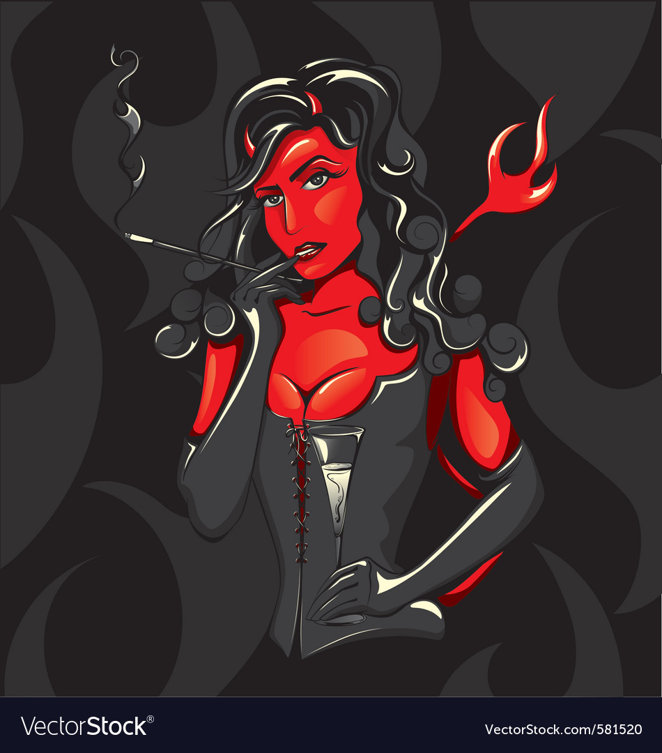 Devil woman vector | Price: 3 Credit (USD $3)