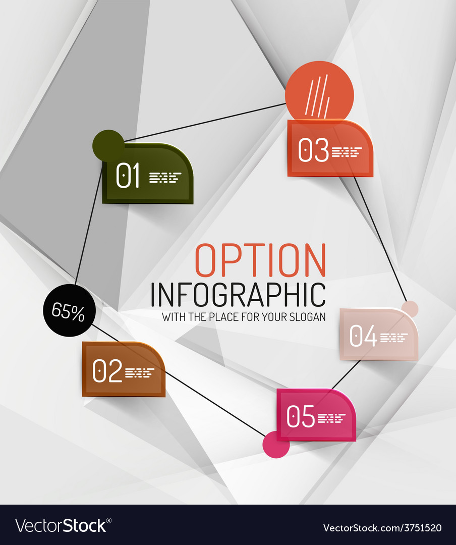 Fresh business abstract infographics vector | Price: 1 Credit (USD $1)