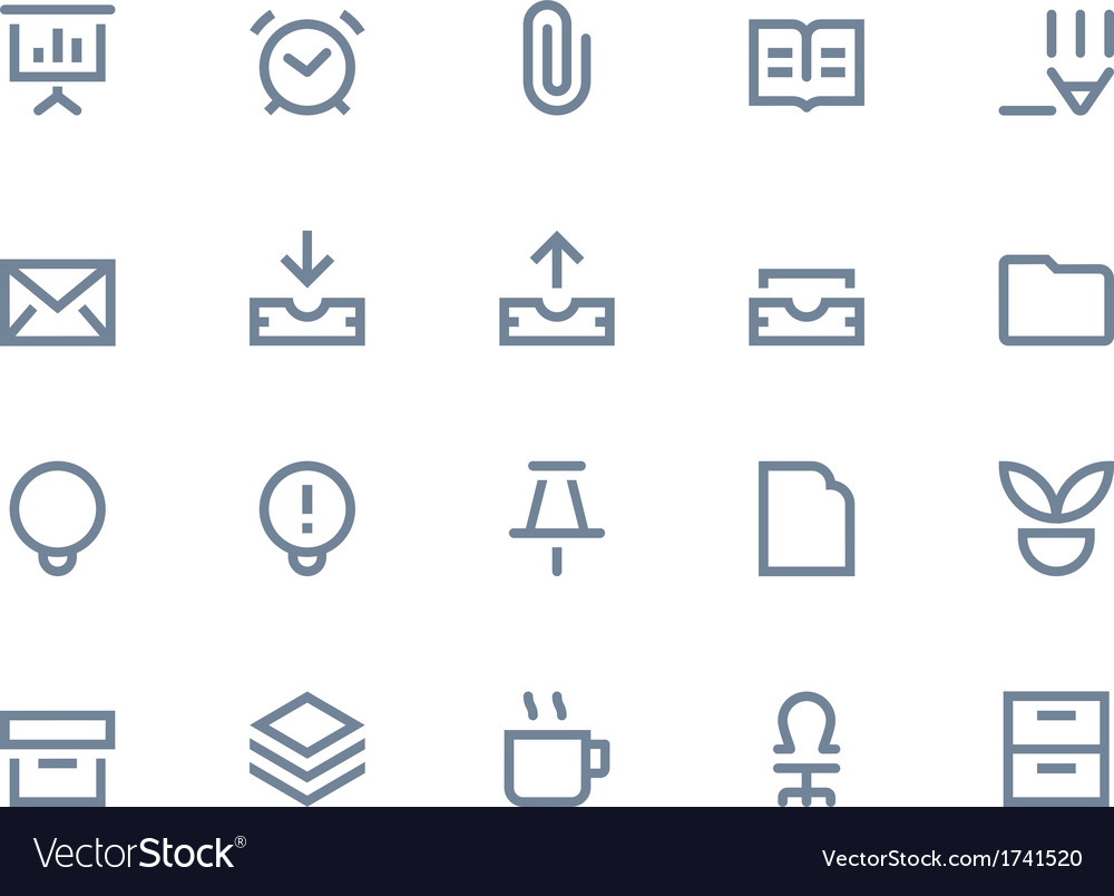 Office icons line vector | Price: 1 Credit (USD $1)