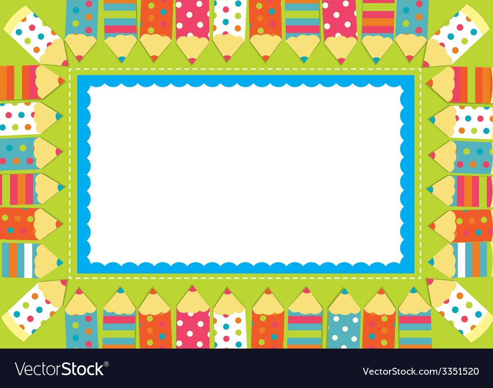 Pencil frame vector | Price: 1 Credit (USD $1)