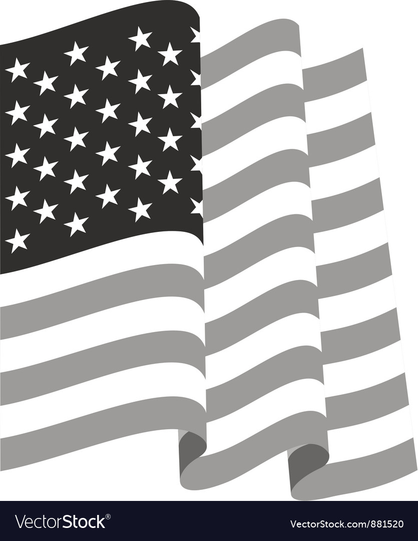 Waving us flag vector | Price: 1 Credit (USD $1)