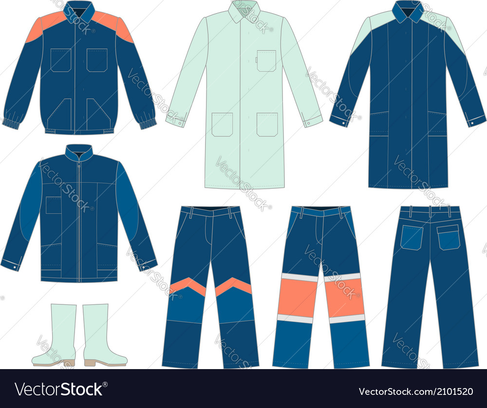 Workwear set vector | Price: 1 Credit (USD $1)