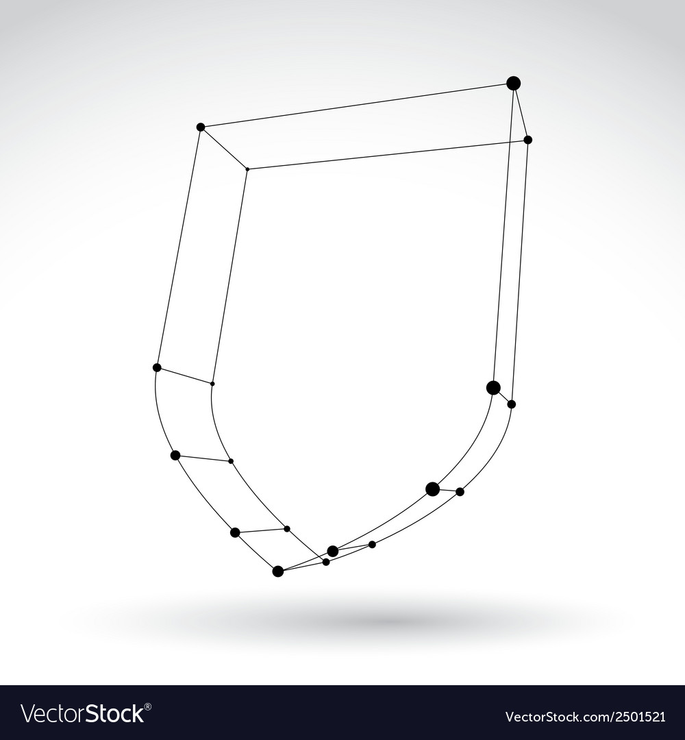 3d mesh carcass monochrome security icon isolated vector | Price: 1 Credit (USD $1)