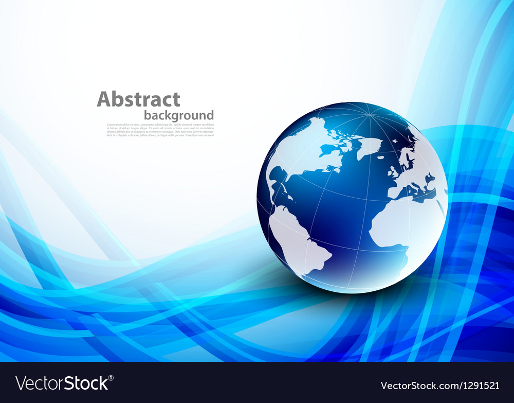 Abstract blue background with globes vector | Price: 1 Credit (USD $1)