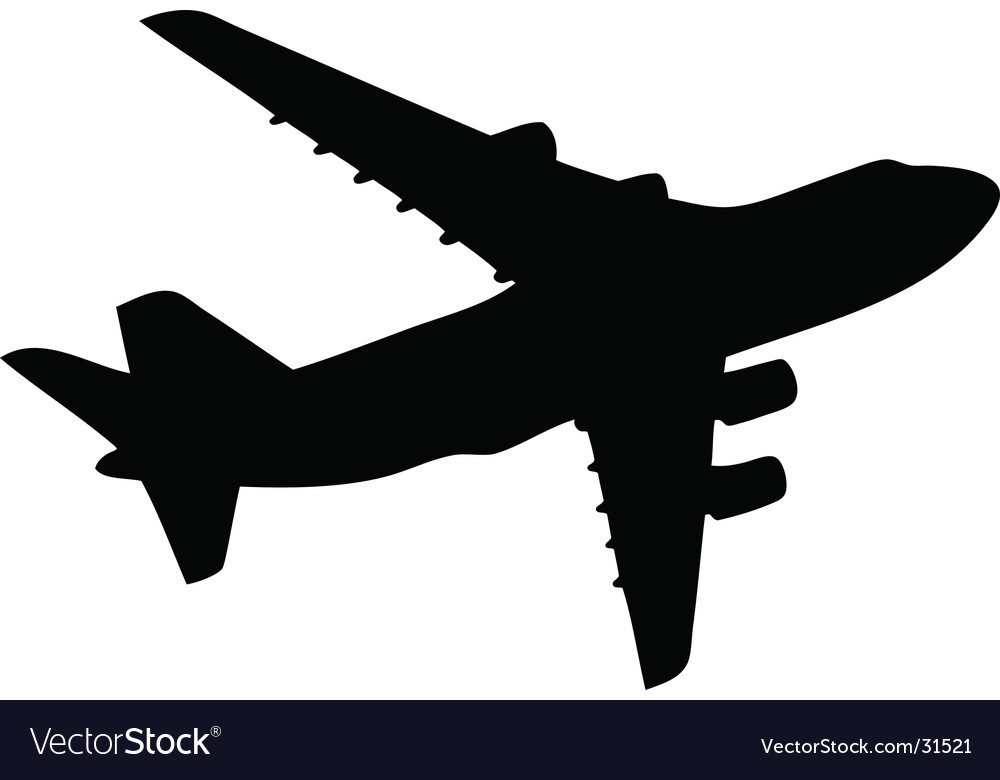 Aero plane silhouette vector | Price: 1 Credit (USD $1)
