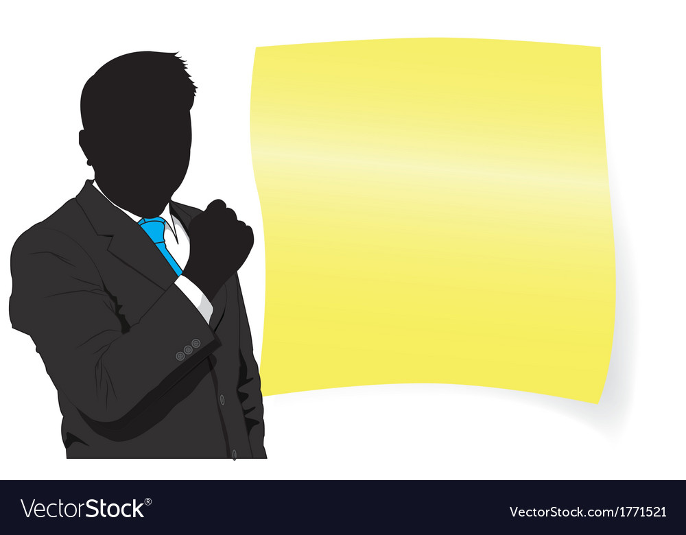 Business man and paper vector | Price: 1 Credit (USD $1)