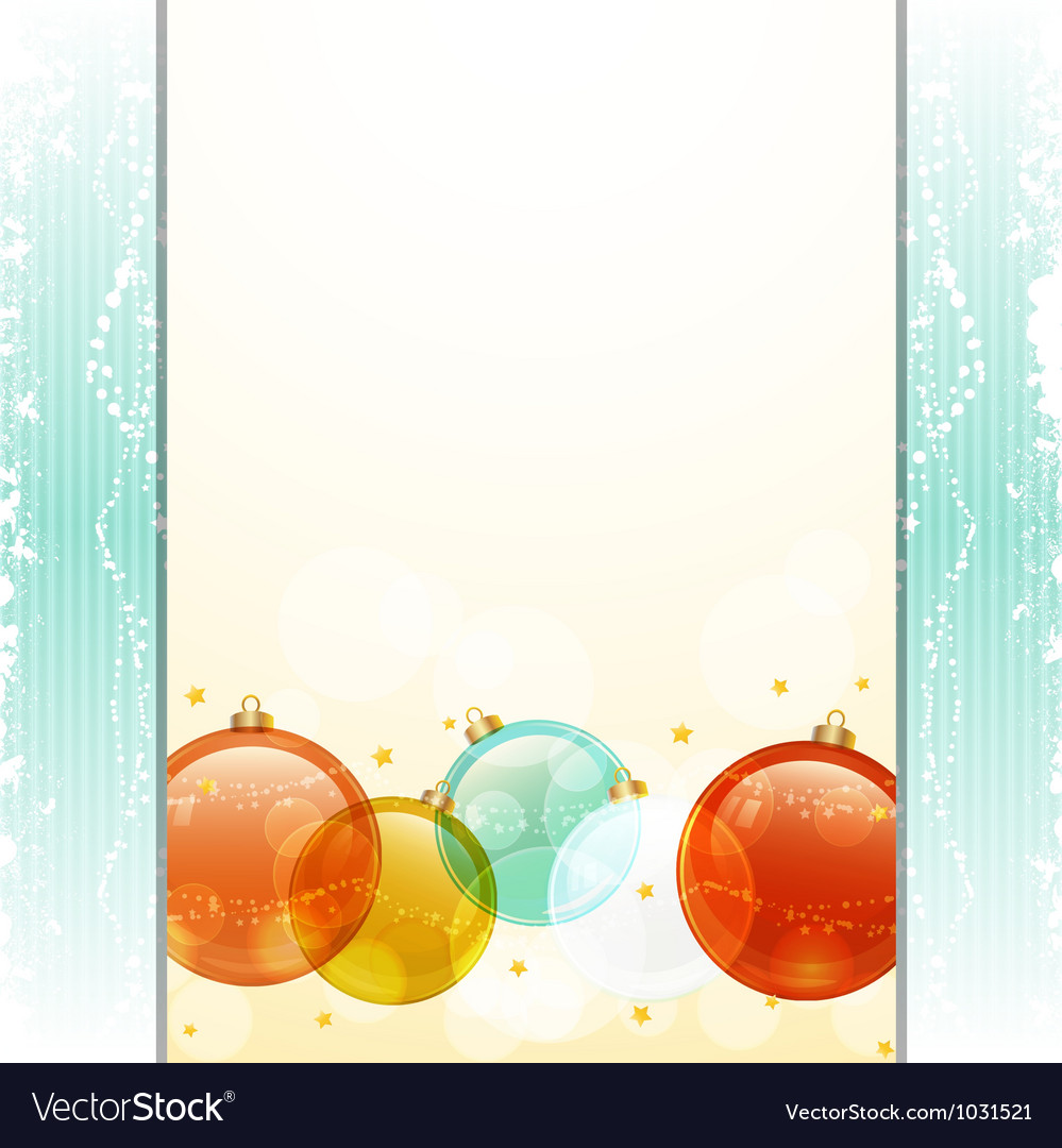 Christmas bauble panel background vector | Price: 1 Credit (USD $1)