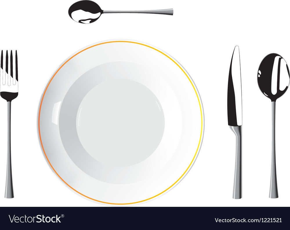 Cutlery and plates vector | Price: 1 Credit (USD $1)