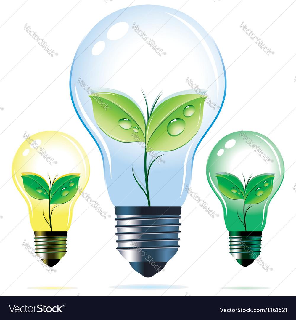 Eco lamps vector | Price: 3 Credit (USD $3)