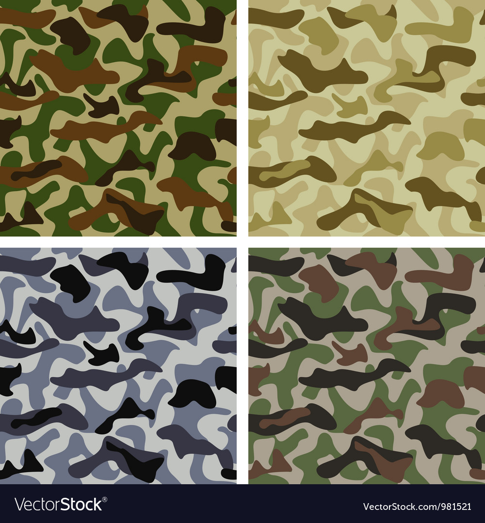 Set of camouflage patterns vector | Price: 1 Credit (USD $1)