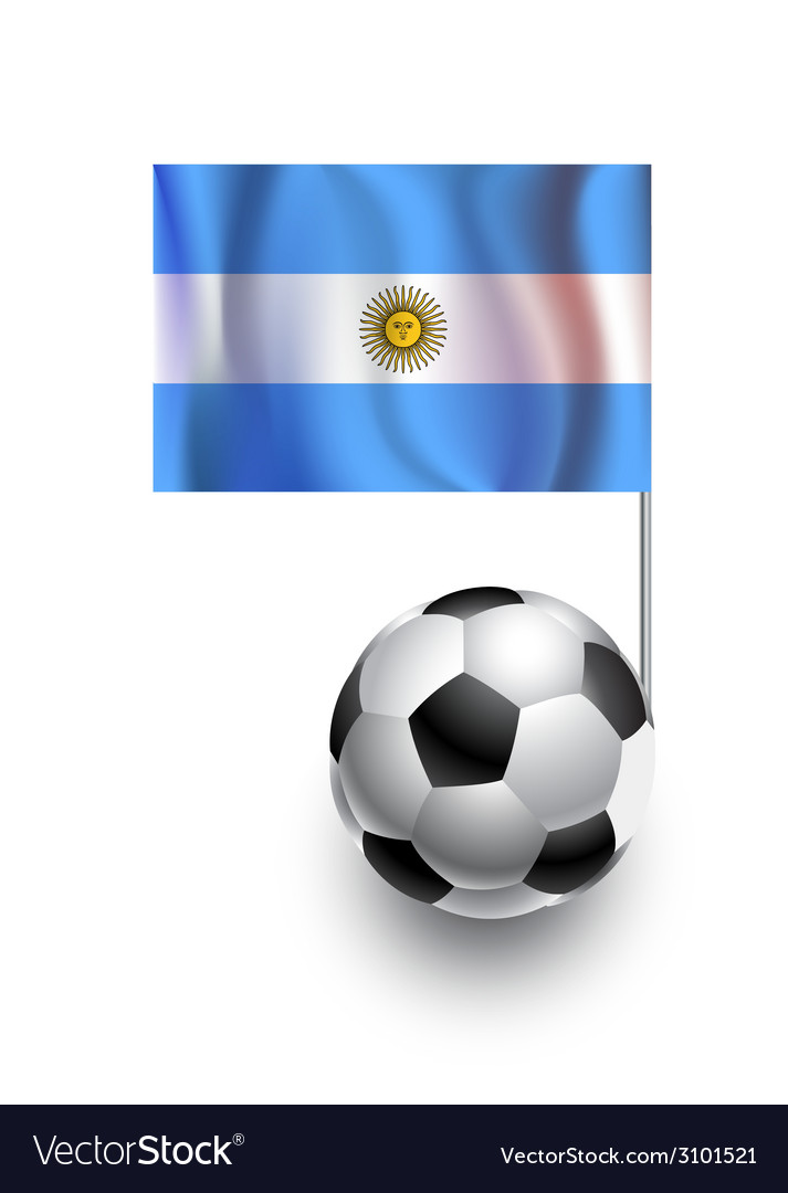 Soccer balls or footballs with flag of argentina vector | Price: 1 Credit (USD $1)