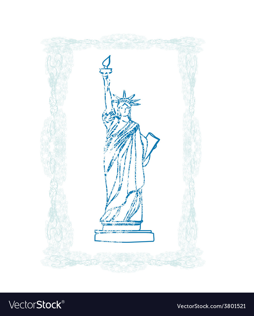 Statue of liberty - doodle vector | Price: 1 Credit (USD $1)