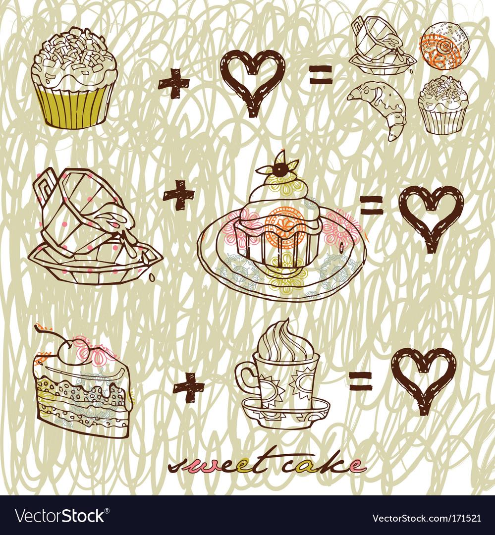 Sweet cake vector   Price: 1 Credit (USD $1)