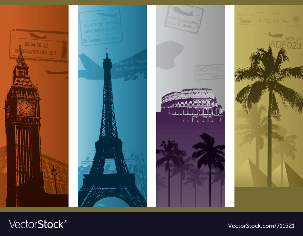 Travel background concept vector | Price: 1 Credit (USD $1)