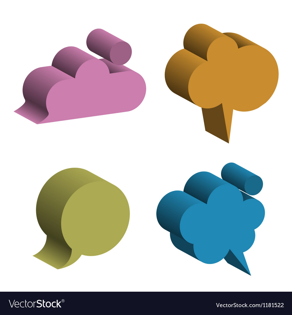 3d speech bubbles vector | Price: 1 Credit (USD $1)