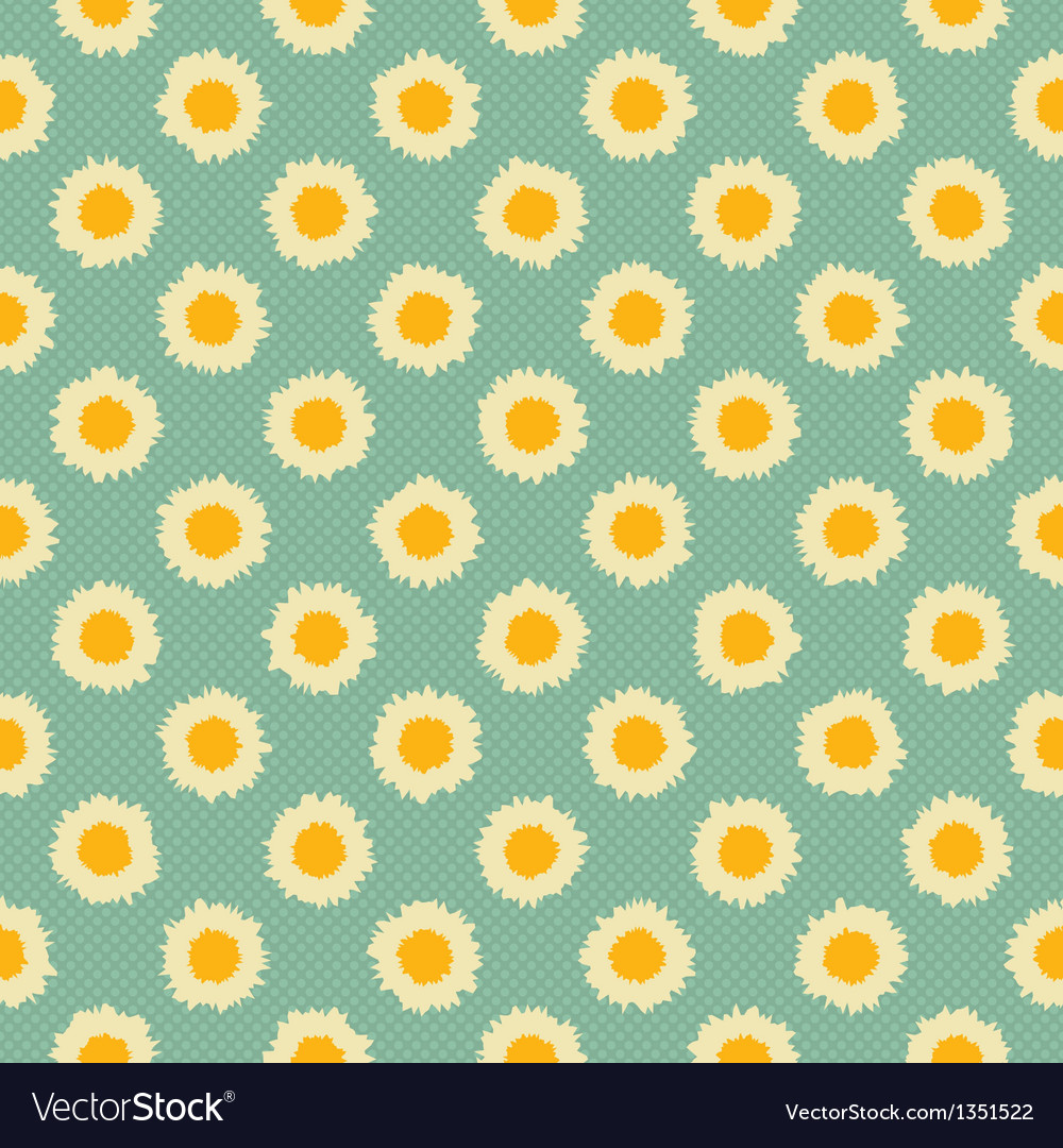 Camomile polka dot vector | Price: 1 Credit (USD $1)