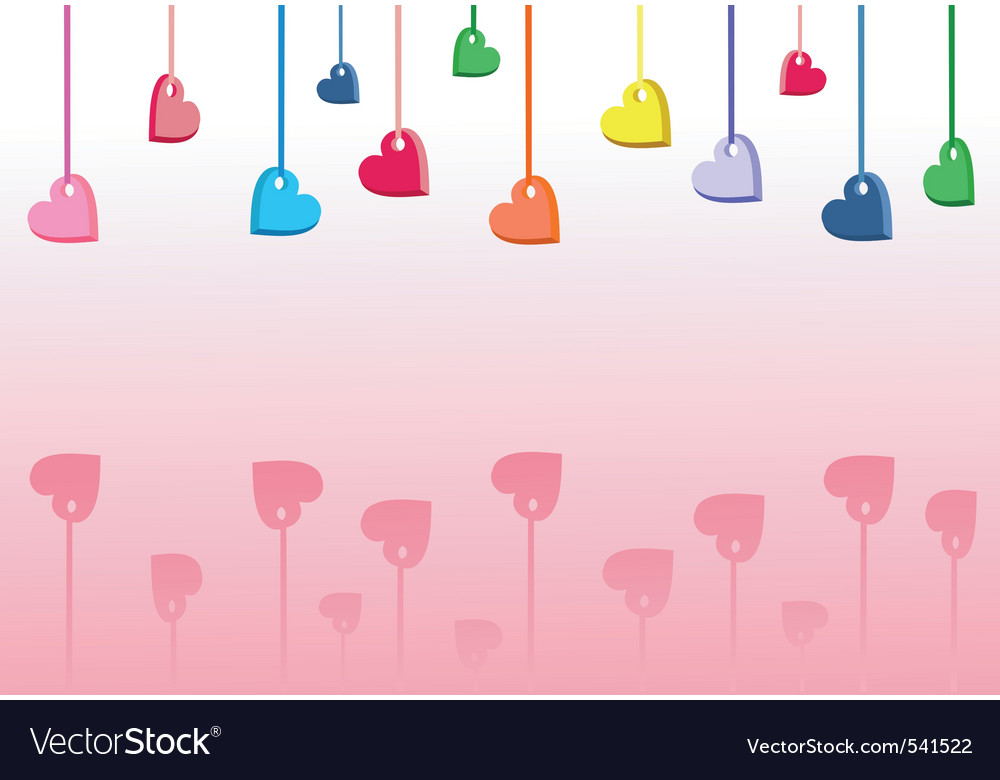 Coloured hearts vector | Price: 1 Credit (USD $1)