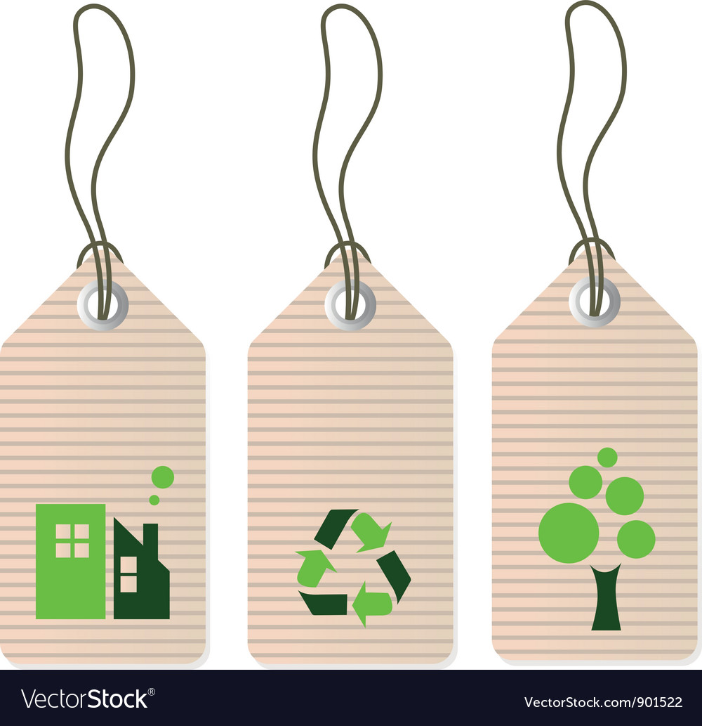 Eco tags set isolated on white - green vector | Price: 1 Credit (USD $1)