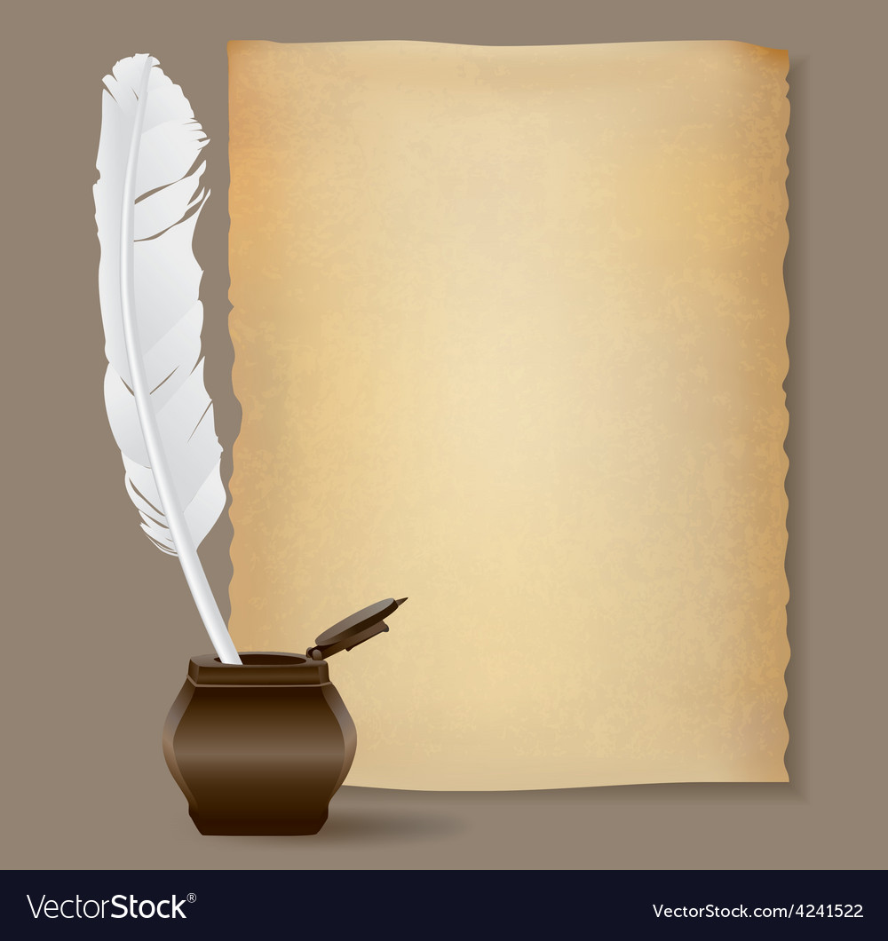 Feather pen background vector | Price: 1 Credit (USD $1)