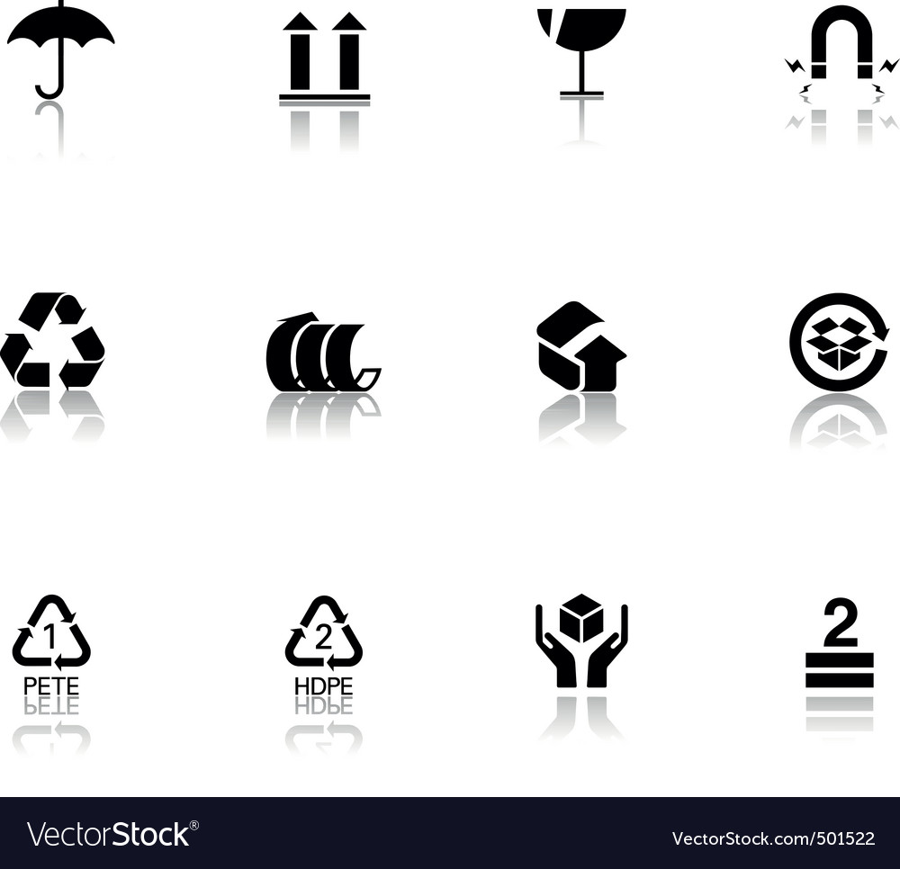 Packaging icons vector | Price: 1 Credit (USD $1)