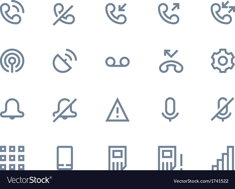 Phone logs icon line vector | Price: 1 Credit (USD $1)