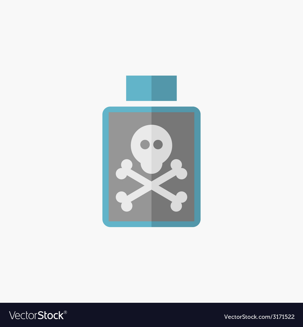 Poison flat icon vector | Price: 1 Credit (USD $1)